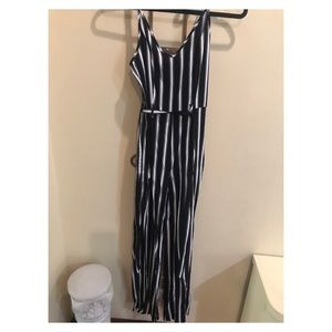 Forever 21 black and white jumpsuit
